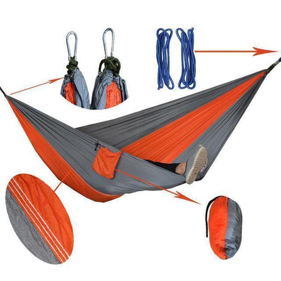 Hanging Sleeping Nylon Fabric-GearDeal.Online-orange silgrey-GearDeal.Online