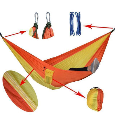 Hanging Sleeping Nylon Fabric-GearDeal.Online-orange yellow-GearDeal.Online