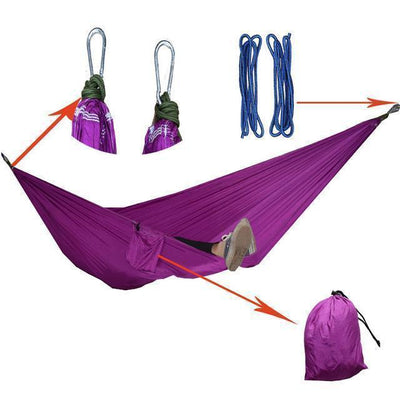 Hanging Sleeping Nylon Fabric-GearDeal.Online-purple-GearDeal.Online