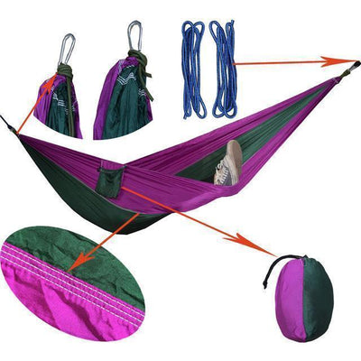 Hanging Sleeping Nylon Fabric-GearDeal.Online-purple blagreen-GearDeal.Online