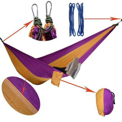 Hanging Sleeping Nylon Fabric-GearDeal.Online-purple yellow-GearDeal.Online