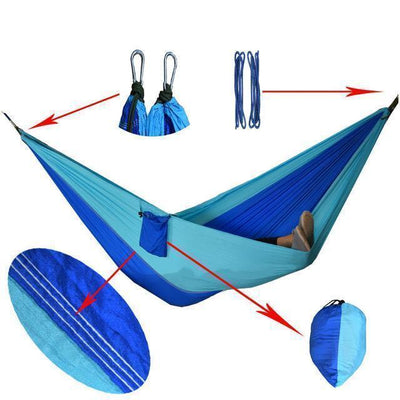 Hanging Sleeping Nylon Fabric-GearDeal.Online-royblue skyblue-GearDeal.Online