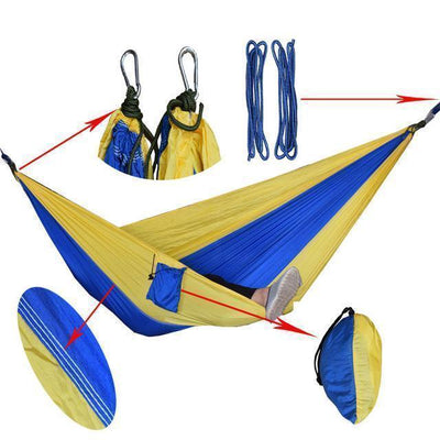 Hanging Sleeping Nylon Fabric-GearDeal.Online-royblue yellow-GearDeal.Online