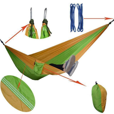 Hanging Sleeping Nylon Fabric-GearDeal.Online-yellow appgreen-GearDeal.Online