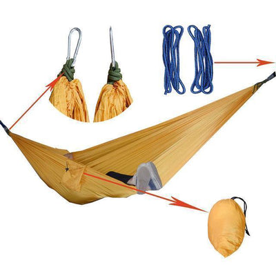 Hanging Sleeping Nylon Fabric-GearDeal.Online-yellow-GearDeal.Online