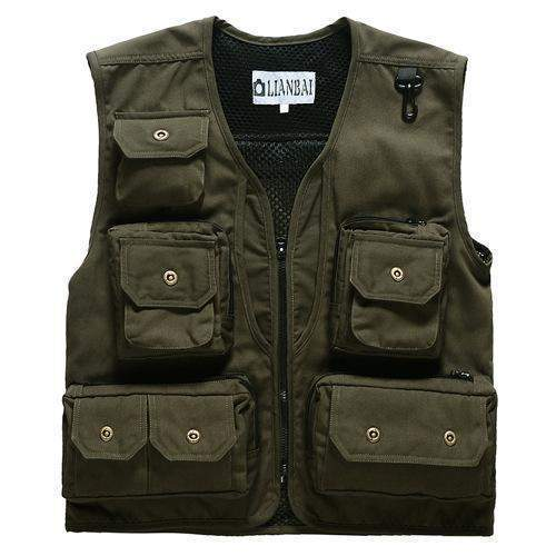 Men's Photographer Canvas Vest