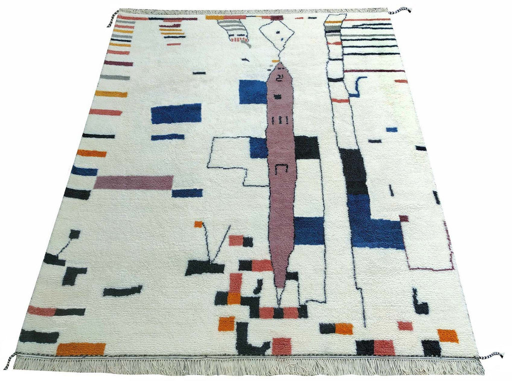 Fine Hand Knootted Moroccan Rug - M88
