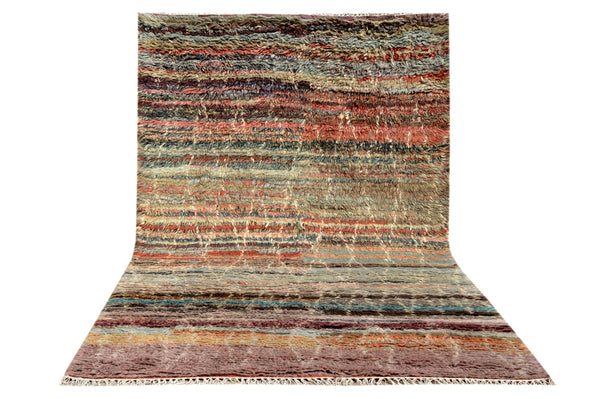 Genuine Hand Knotted Moroccan Rug -A887