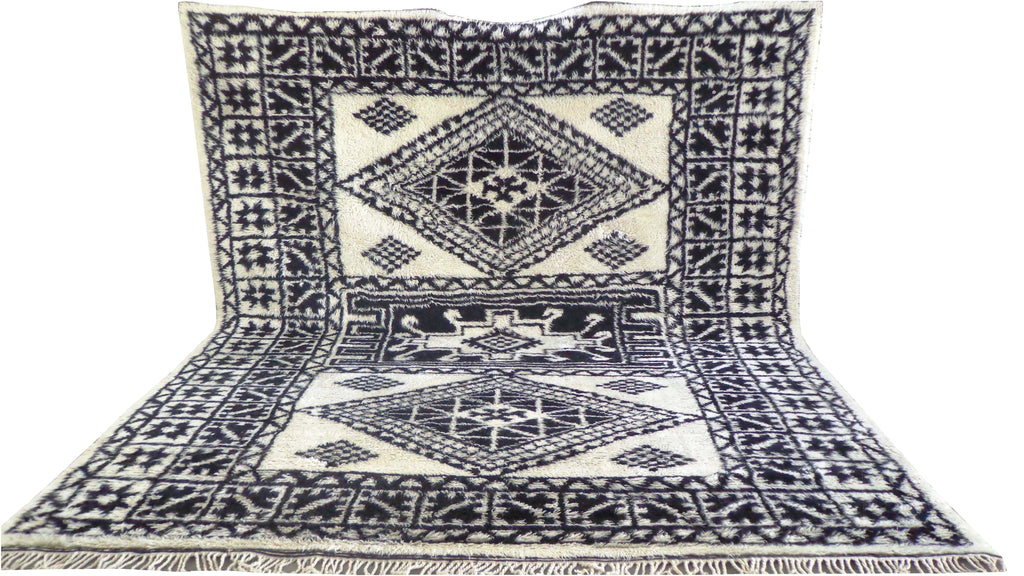 Moroccan Rug - Fine Hand Knotted Rabat Rug - MO675