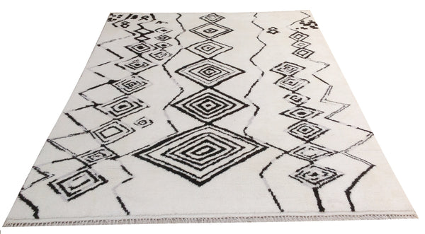 Hand knotted Moroccan Rug - K10