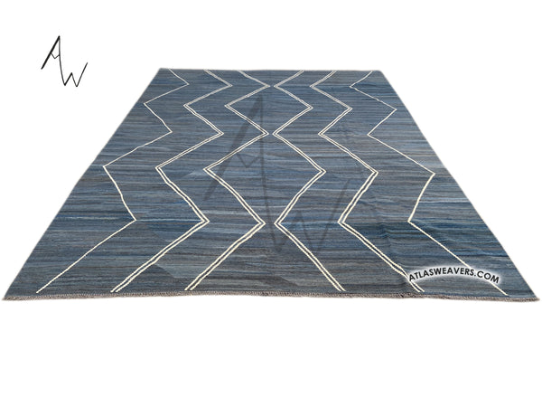 FIne Hand Knotted Moroccan Kilim  - AW110