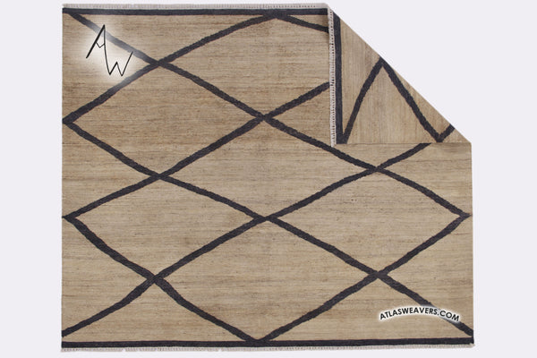 Hand knotted Moroccan Kilim with the natural Jute - KM110