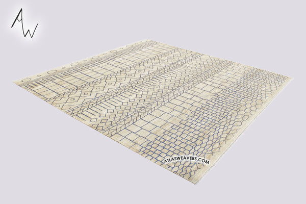 Hand knotted  Kilim with natural sisal fiber-KN110