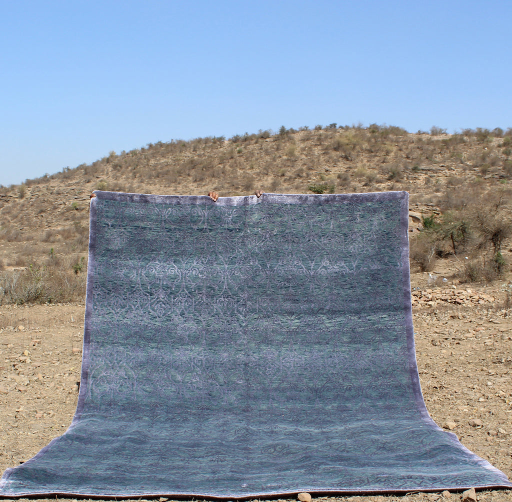 Fine Hand Knotted Moroccan Azilal  by Atlas Weavers  -   AZ675