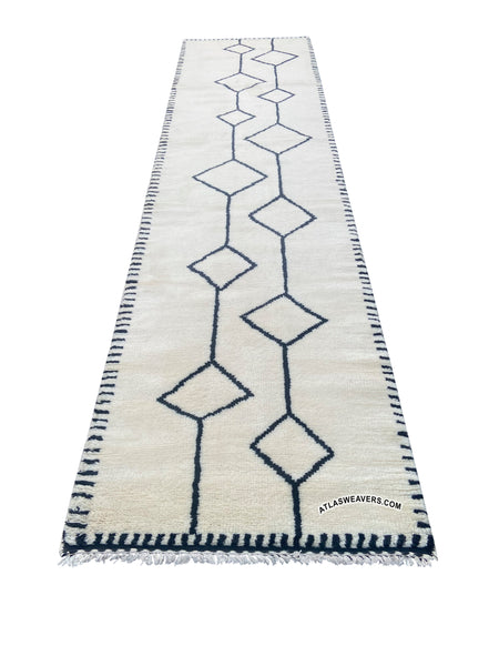 Hand knotted Moroccan Runner  - R110