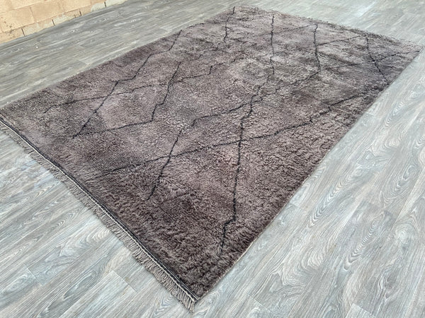 Over-dyed Hand knotted Moroccan Rug By Atlas Weavers - U7
