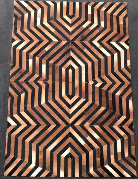 Artisan Crafted Leather Hide Rug - LH-101