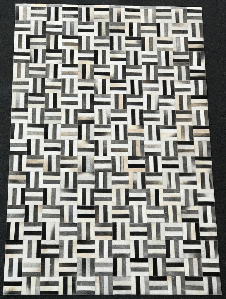 Artisan Crafted Leather Hide Rug - LH-102