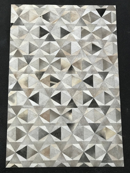 Artisan Crafted Leather Hide Rug - LH-104