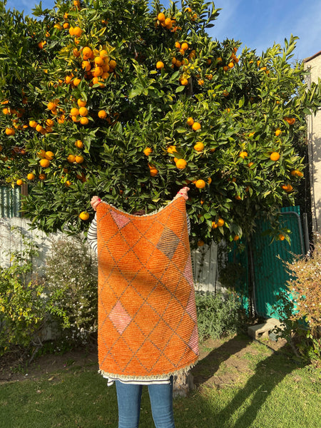 Lovely Hand knotted Orange Azilal - M8