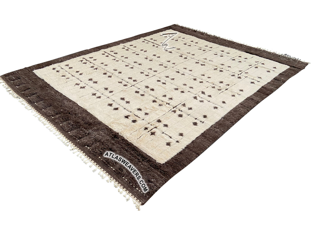 Hand knotted shaggy Azrou Rug  -  ML77