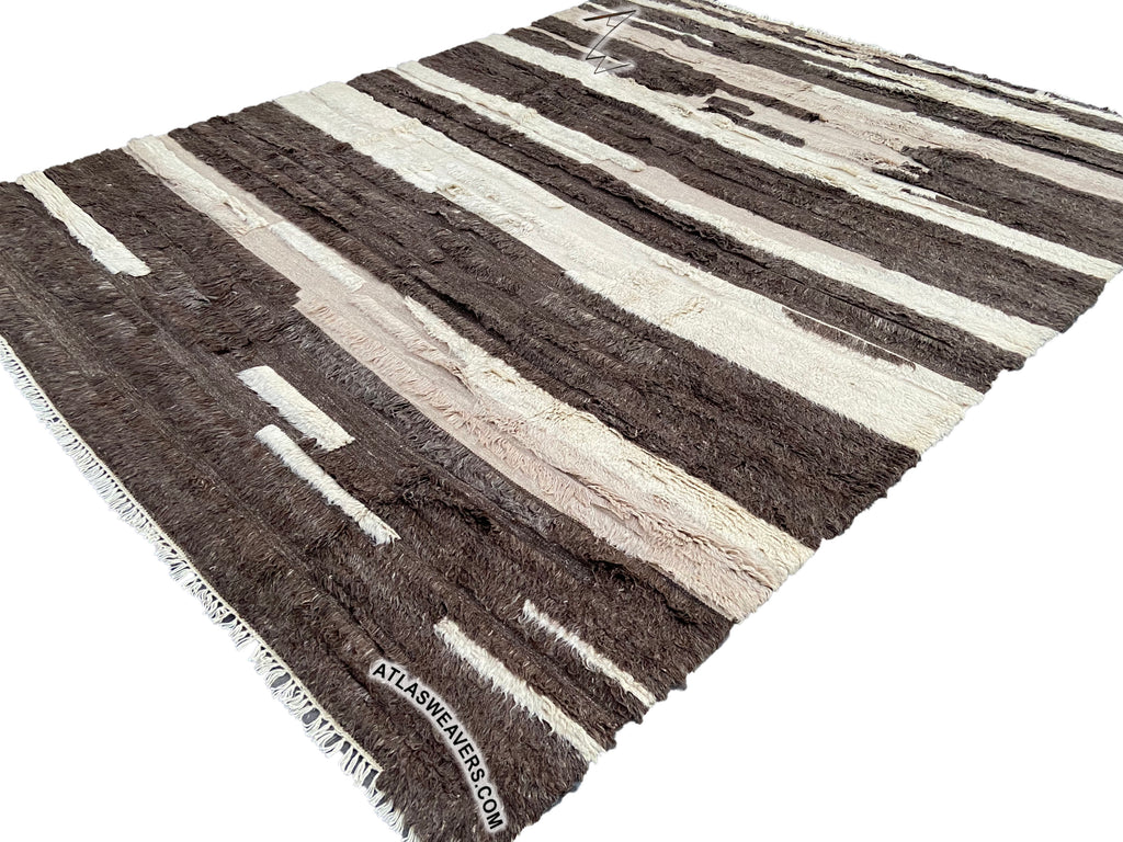 Hand knotted shaggy Azrou Rug  -  ML64