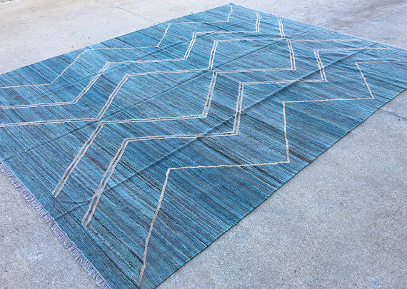 Custom-Made Moroccan Kilim - Fine Weave - KM120