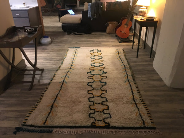 Vintage Azilal - Genuine Moroccan Rug - Beni Ourain - Mid Century Modern - A405