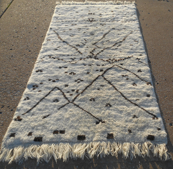 Genuine Moroccan Rug - Size- 4'4 x 6'4