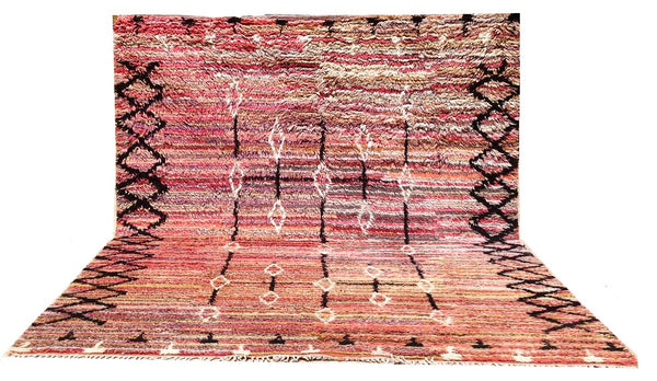 Hand knotted Azrou Moroccan Rug - K14