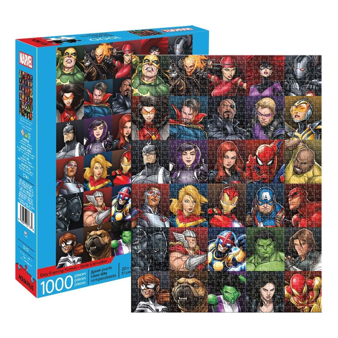 Marvel Heroes Collage Jigsaw Puzzle 1000 Pieces Green Rock Comics
