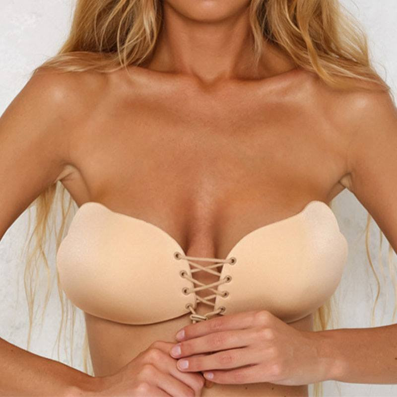 Simplee - Strapless Front-Lacing Push Up Bra