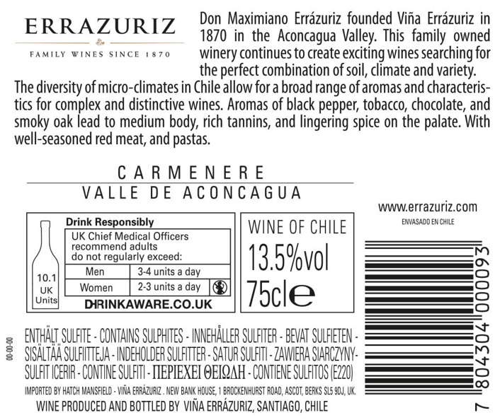 Errázuriz Estate Series Carmenère