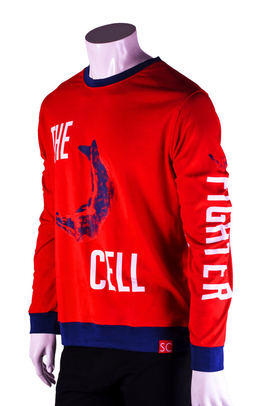 The Sickled cell red sweatshirt aka The Fighter