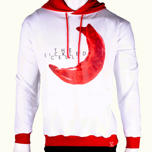 The Leukocyte Sickled cell white hoodie