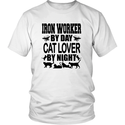 Iron Worker By Day Cat Love By Night T-Shirt - Proud Your Style