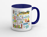 Fun Loving Travel Doodle Coffee Mug