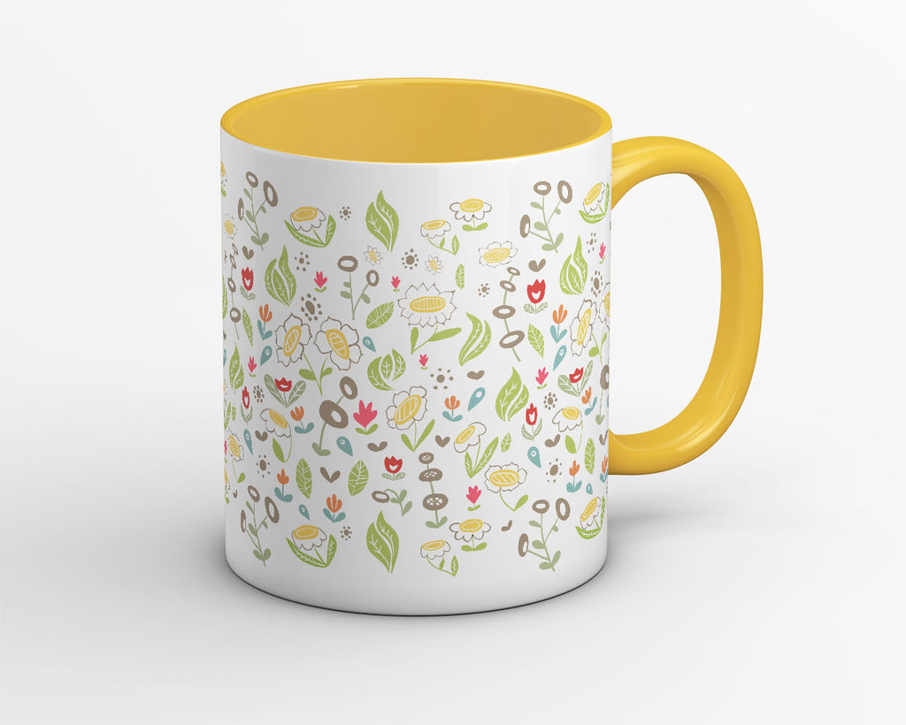 Floral Leaves Garden Coffee Mug - OyeHoe