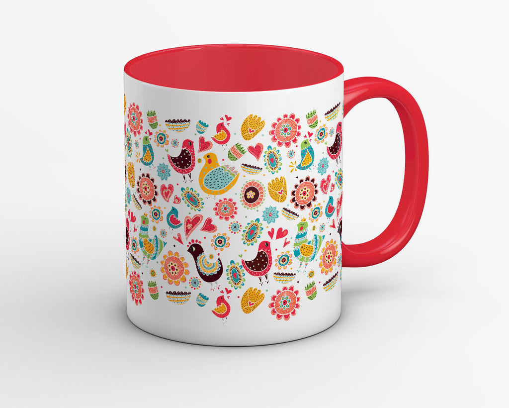 Just Colors and Birds Coffee Mug - OyeHoe