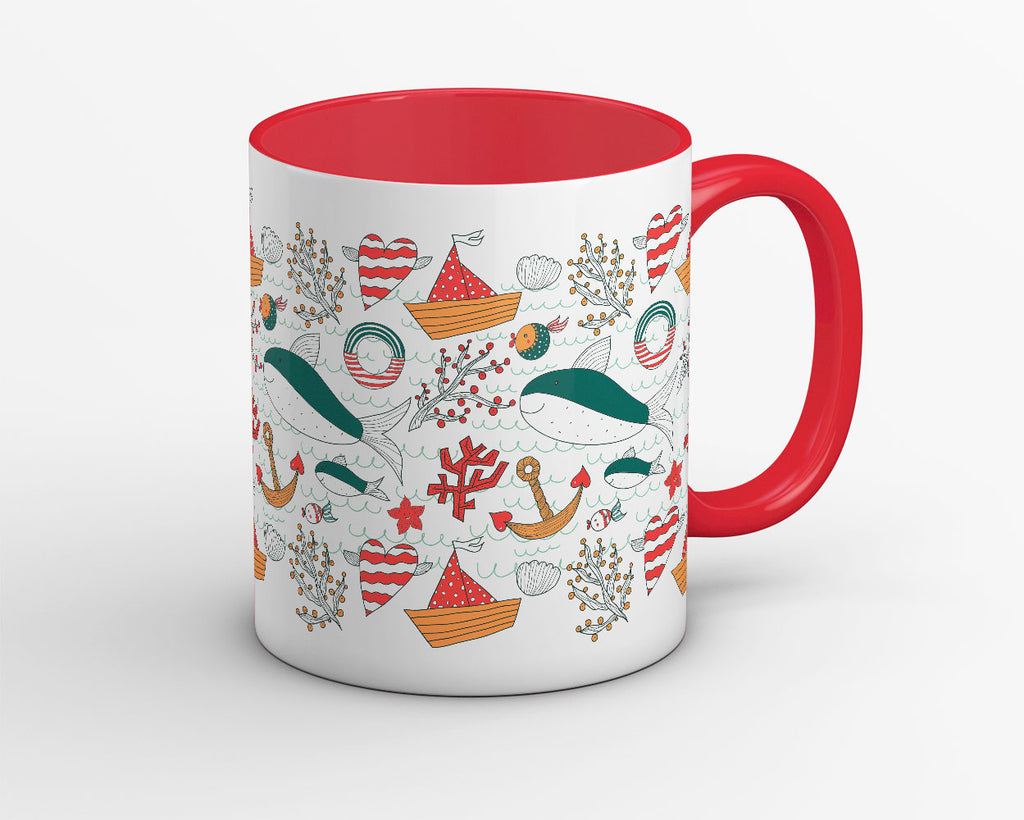 Above and Below the Sea Coffee Mug - OyeHoe