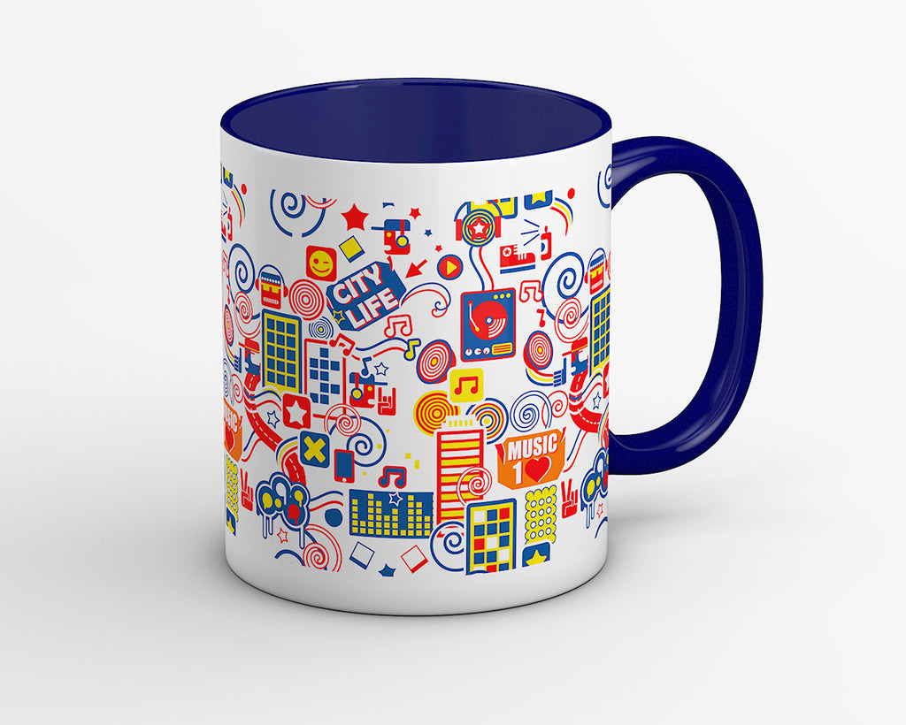 Metro Music Lovers Coffee Mug - OyeHoe