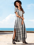 Summer Side Split Long Casual Women Maxi