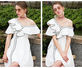 Summer Fashion Shoulder Empire Casual Women Dress