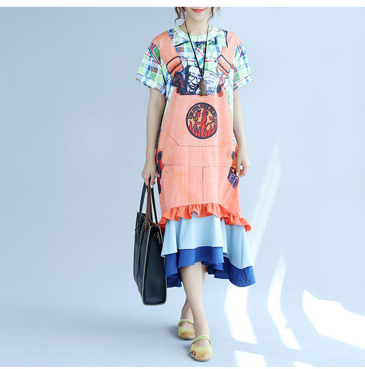 Summer 3D Plaid Casual Women Dress