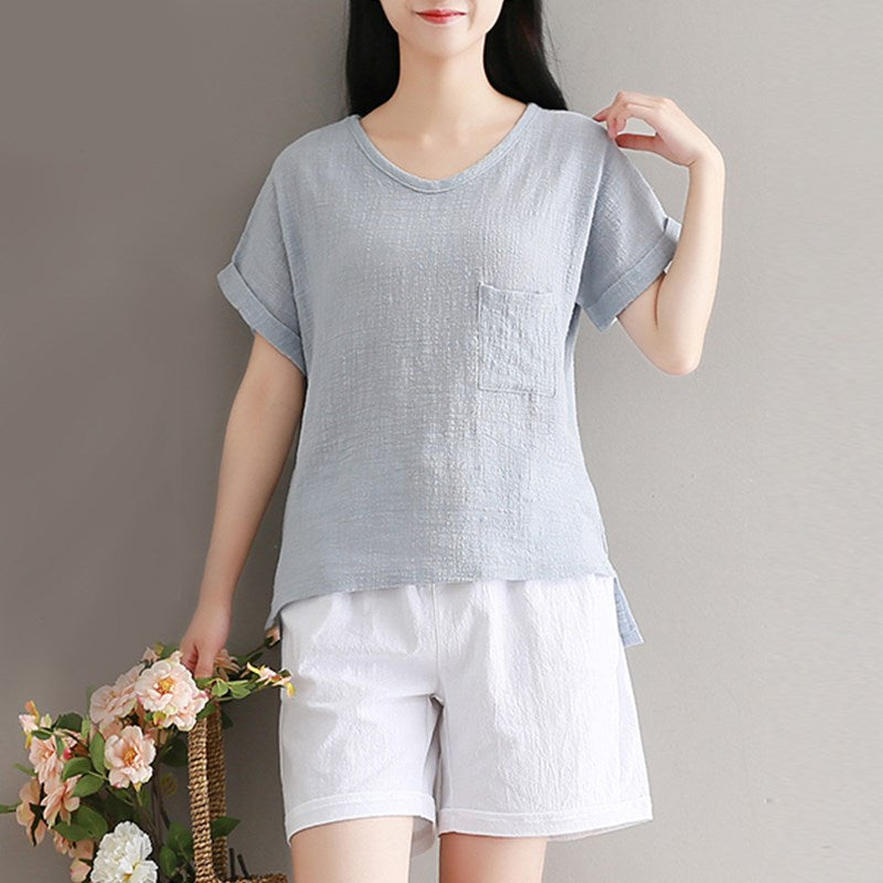 Summer Mori Literary Plus Size Casual Women Top
