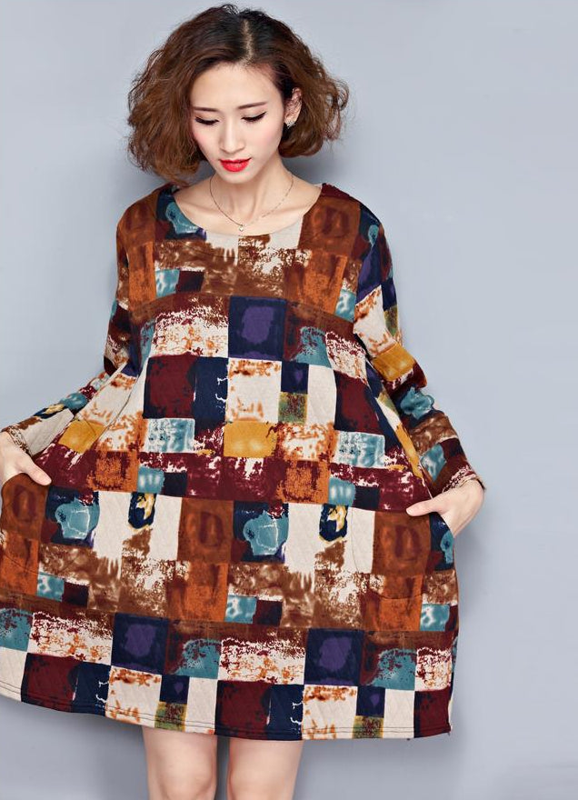 Plus Size Cotton Long Casual Women Dress - OyeHoe