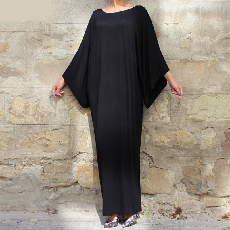Summer Batwing Casual Women Maxi