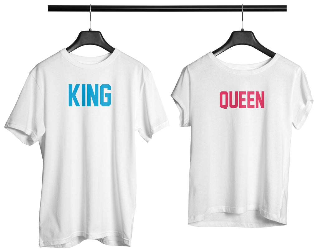 King Queen Couple Tee - OyeHoe