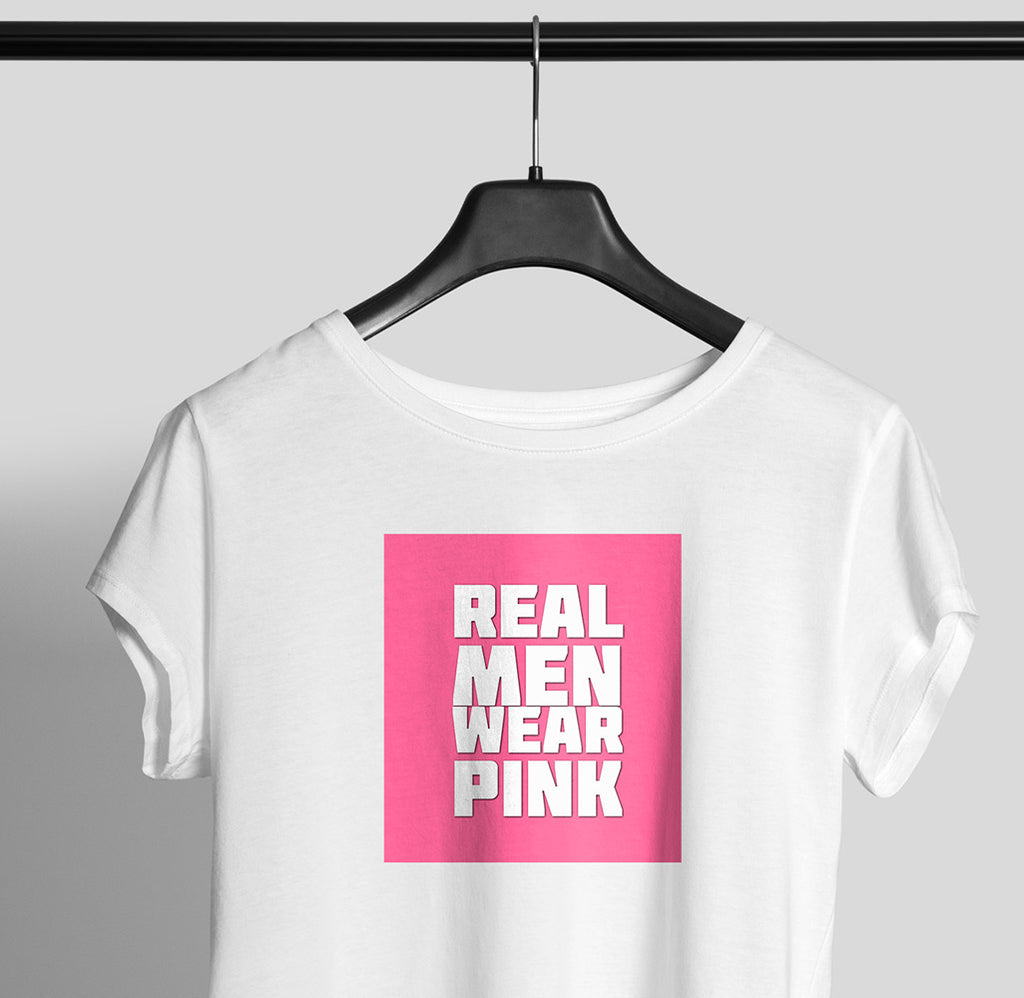 Real Men Wear Pink Women Graphic Tee - OyeHoe