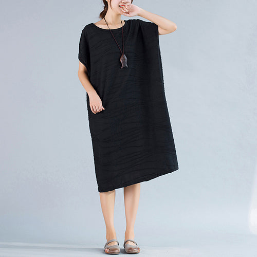 Summer Vintage Cotton Casual Women Dress
